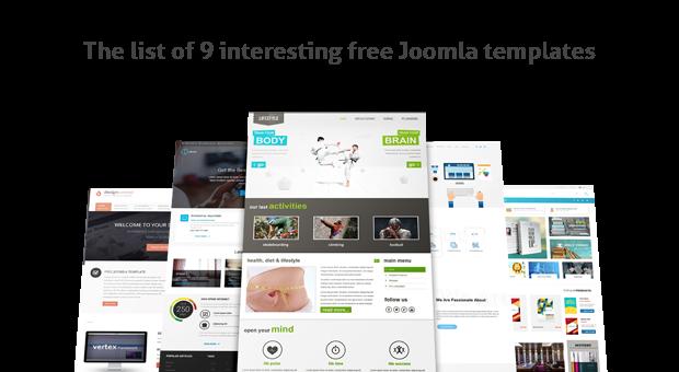9 Free Joomla Themes